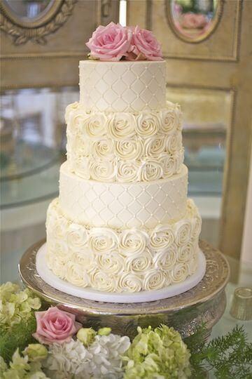 Bolo de Casamento com Texturas