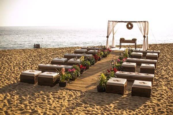 Decoração de Cerimônia na praia