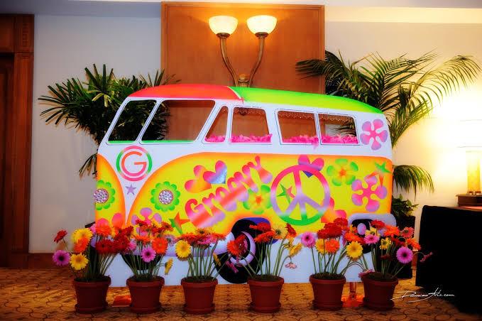 festa anos 60 Hippie