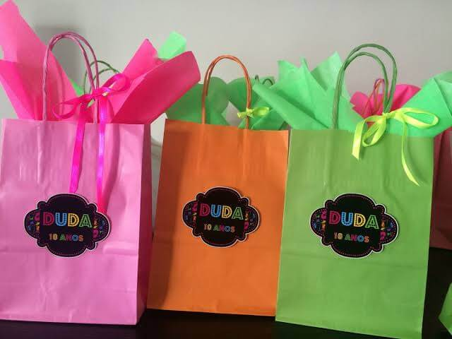 Embalagens para Festa neon